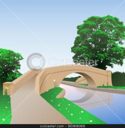 Canal clipart bridge river