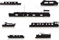 Ferry clipart canal boat