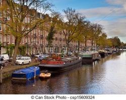 Canal clipart city scene
