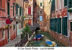 Canal clipart town building