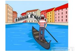 Canal clipart venice italy