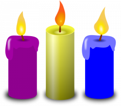 Melting Candle clipart church candle