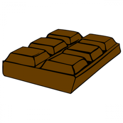 Candy Bar clipart brown chocolate