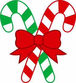 Number clipart candy cane