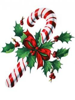 Candy Cane clipart christmas holly