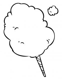 Cotton Candy clipart black and white
