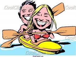 Kayak clipart cartoon