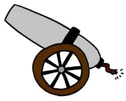 Pice clipart cannon