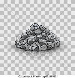 Boulders clipart coal