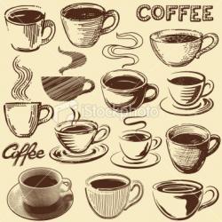 Drawn mug vintage