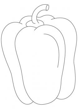 Capsicum clipart black and white
