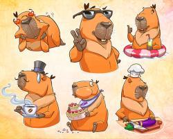 Hamster clipart capybara