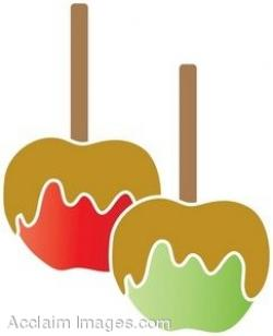 Drawn candy caramel apple