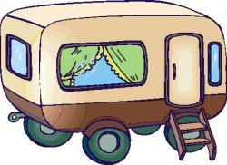 Camper clipart caravan