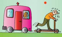 Caravan clipart cartoon