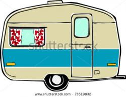 Camper clipart camping trailer