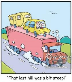Caravan clipart funny