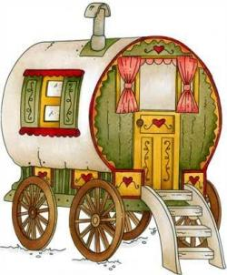 Caravan clipart gypsy caravan