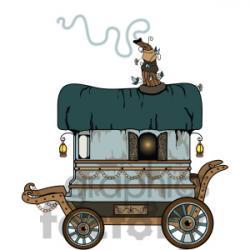 Caravan clipart gypsy wagon