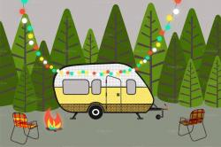 Campire clipart rv camping