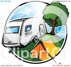 Caravan clipart tent