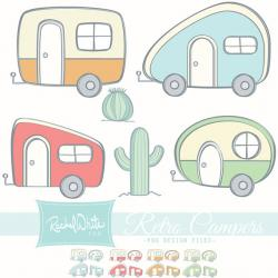 Collage clipart camper