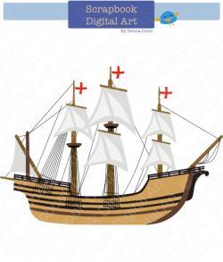 Old Sailing Ships clipart caravel
