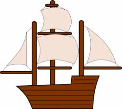 Caravel clipart navy ship