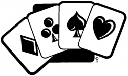 Poker clipart black and white