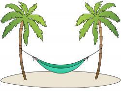 Hammock clipart beach scene