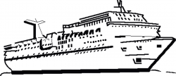 Cruise clipart black and white