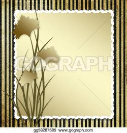 Carnation clipart striped