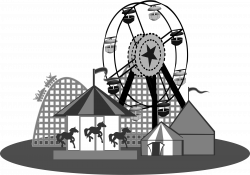Carneval clipart black and white