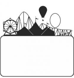 Boardwalk clipart silhouette