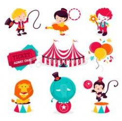 Carneval clipart circus character