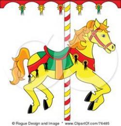 Carneval clipart horse carousel