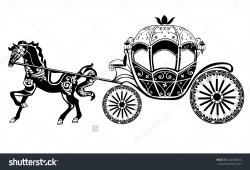 Horse-drawn Carriage clipart vintage