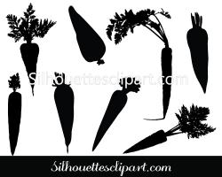 Carrot clipart silhouette