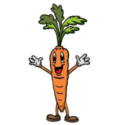 Carrot clipart smile