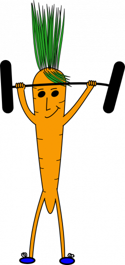 Carrot clipart strong