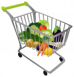 Vegetables clipart shopping basket