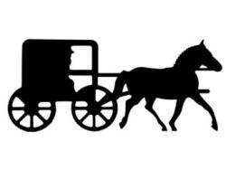 Wagon clipart amish