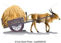 Cart clipart bull cart