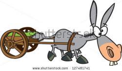 Cart clipart donkey cart