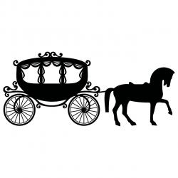 Horse-drawn Carriage clipart royal carriage