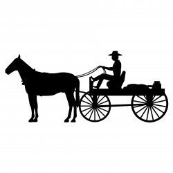 Horse-drawn Carriage clipart silhouette