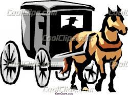 Horse-drawn Carriage clipart coach