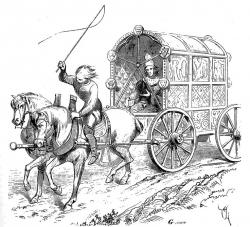 Horse-drawn Carriage clipart medieval