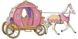Horse-drawn Carriage clipart princess