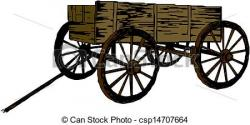 Cart clipart wood cart